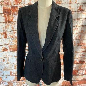 Pendleton Grey Wool single button Blazer 6 8